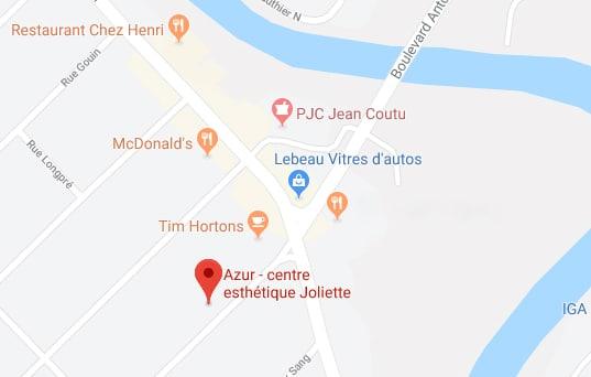 localisation google maps centre esthétique azur